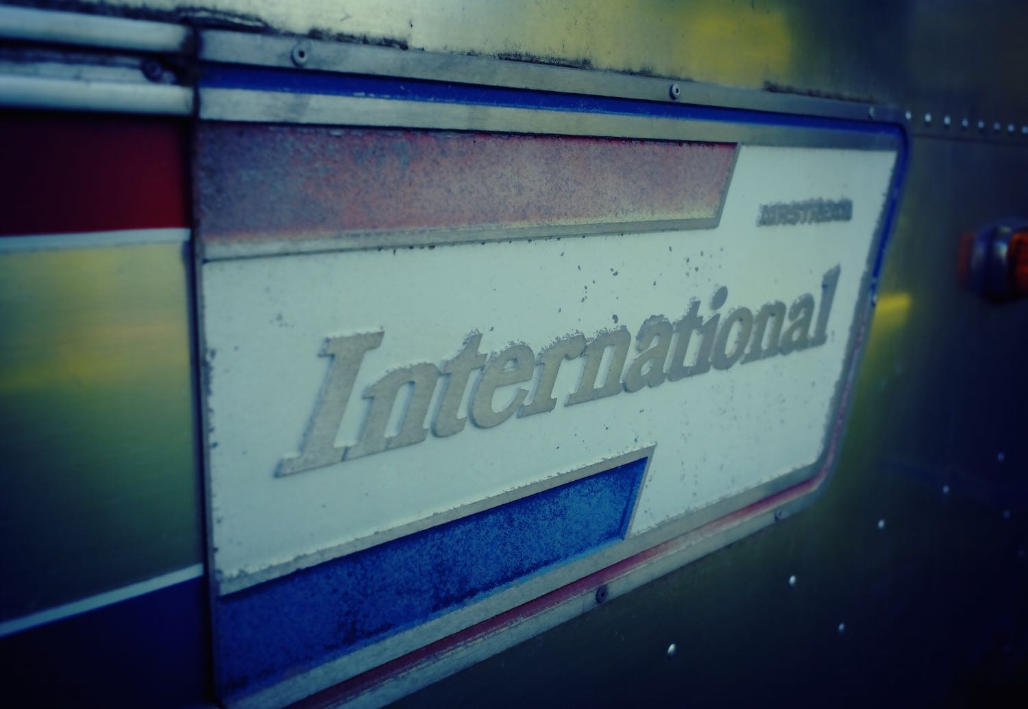 A view of our Airstream International Land Yacht emblem.