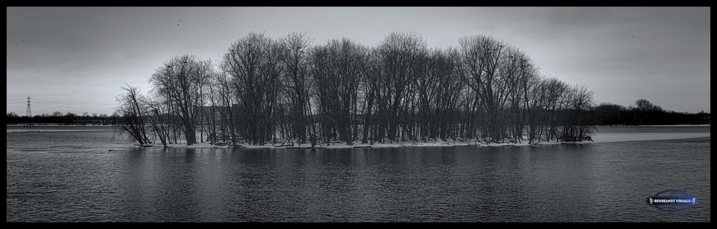 A small island in Little Lake Butte des Morts, Menasha Wisconsin.